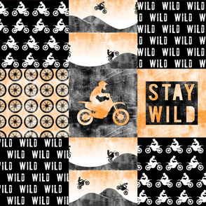 Motocross Patchwork - Stay Wild -  Orange