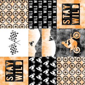 Motocross Patchwork - Stay Wild -  Orange (90)