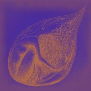 Vulnerability droplet (gold&violet)