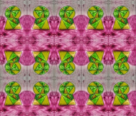 Stainglass keyhole fabric by malirybka on Spoonflower - custom fabric