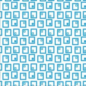 Blue squares cuadros azules