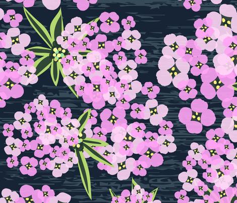 Alyssum - Jumbo Pink & Navy fabric by sarah_treu on Spoonflower - custom fabric