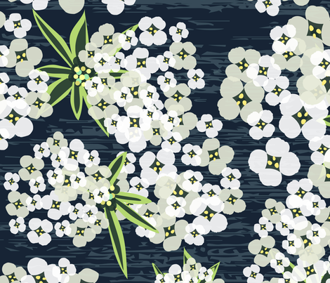 Alyssum - Jumbo Navy fabric by sarah_treu on Spoonflower - custom fabric