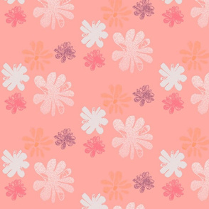 Flower blossom on pale pink background