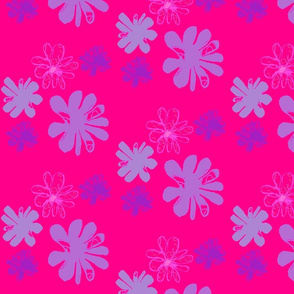 Flower blossom on fuchsia background