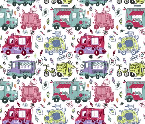 Ice Cream Trucking fabric by creativetea on Spoonflower - custom fabric