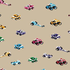 Pixel Art Race Cars for Kids