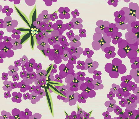 Alyssum - Jumbo Purple fabric by sarah_treu on Spoonflower - custom fabric
