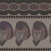 baboon dark green brown