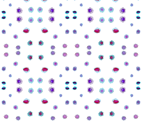 blobs in blue fabric by earlgreyafternoons on Spoonflower - custom fabric