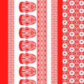 maori lengthwise red white
