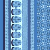 maori lengthwise blue