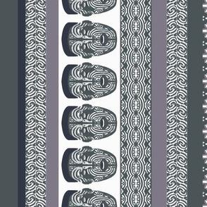 maori lengthwise grey white
