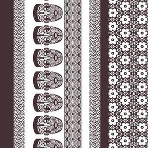 maori lengthwise brown white
