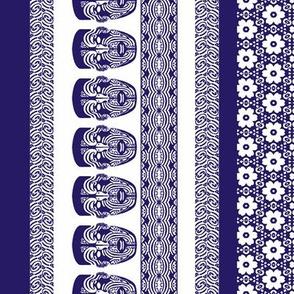 maori lengthwise blue white