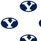 BYU white and blue