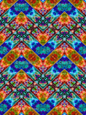 Stitched Cool & Warm Zigzag