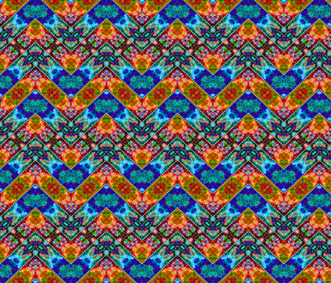 Stitched Cool & Warm Zigzag fabric by just_meewowy_design on Spoonflower - custom fabric
