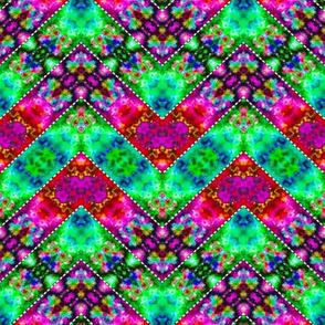 Stitched Vibrant Zigzags