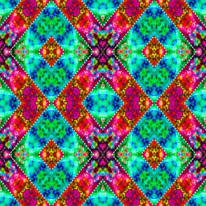 Connected Stitched Diamonds