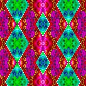 Pink & Green Stitched Diamondback