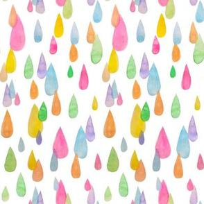 watercolor rain white