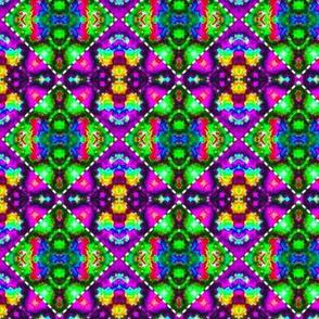 Rich Rainbow Stitched Diamonds