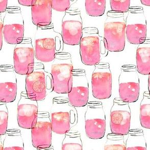 (small scale) watercolor pink lemonade