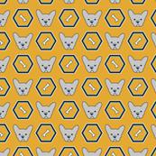French Bulldog_Hexagon Yellow