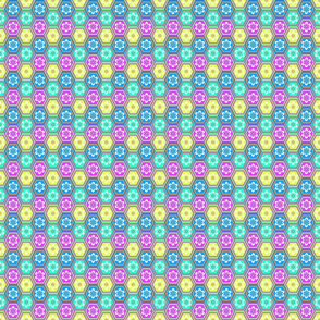 Flower Hexes - Bright - Small