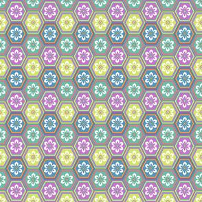Flower Hexes - Light Bright - Small