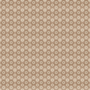 Flower Hexes - Sepia - Small