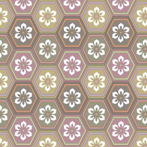 Flower Hexes - Neutrals - Large