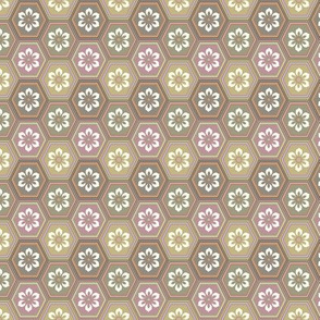 Flower Hexes -  Neutral - Small