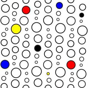 Mondrian Inspired Circle Design