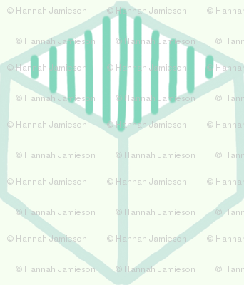 Mint Cubed Hexagons