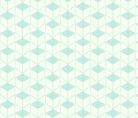 Mint Cubed Hexagons fabric by hejamieson on Spoonflower - custom fabric