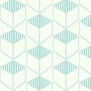 Mint Cubed Hexagons