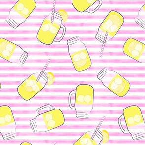lemonade on pink stripes