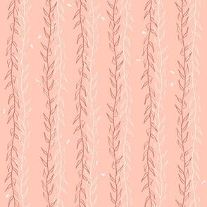 Prehistoric Sea: Seaweed in Pinks