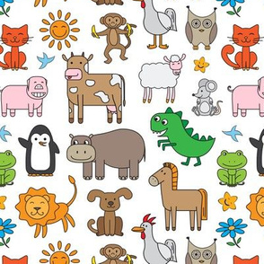 Cute Animals Pattern for Kids