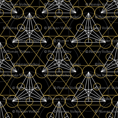Linear Art Deco Geometric Pattern