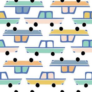 Cadillac car convoy