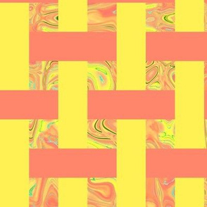 CD5 - Open Weave Abstract Gallery - Yellow - Peach