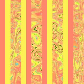 CD5 - Abstract Stripes in Tangerine - Yellow