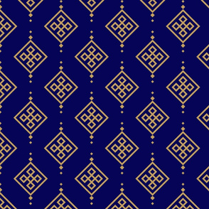 Gold pattern on dark blue background