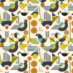 Bauhaus style birds