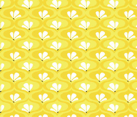 Morning Herbal Tea - yellow art deco coord 03 fabric by quirkysewing on Spoonflower - custom fabric