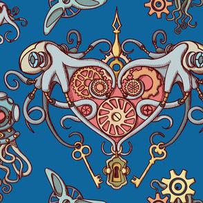 OCTOPUS in love navy