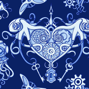 OCTOPUS in love  neg Blue